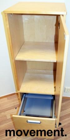 Smalt oppbevaringsskap på hjul i bjerk fra Ikea Effektiv-serie, 44,5cm bredde, pent brukt bilde 2