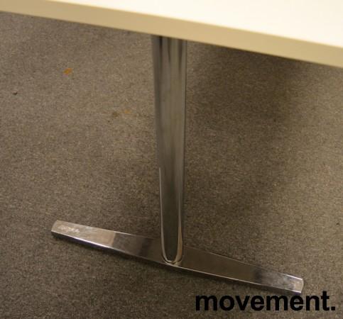 Møtebord / kantinebord fra Materia i hvitt / krom understell, 180x80cm, pent brukt bilde 3