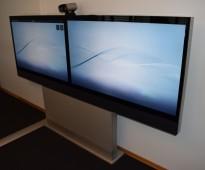 Cisco videokonferanse Telepresence Profile Dual 55inch FULL-HD-oppsett, pent brukt - NY PRIS
