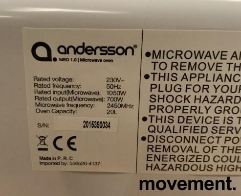 Mikrobølgeovn fra Anderson, modell MEO 1.0 Microwave Oven, pent brukt bilde 2