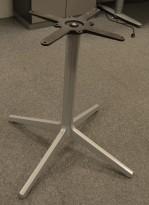 Understell / bordben i grålakkert stål fra Pedrali, høyde 73cm, pent brukt