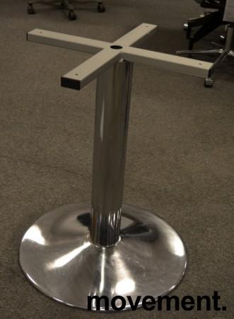 Understell / bordben i krom, høyde 72cm+plate, pent brukt bilde 1