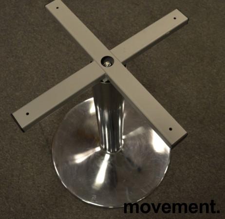 Understell / bordben i krom, høyde 72cm+plate, pent brukt bilde 2