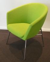 Loungestol / lenestol i grønn ullfilt fra Artifort, modell Megan, design: René Holten, pent brukt
