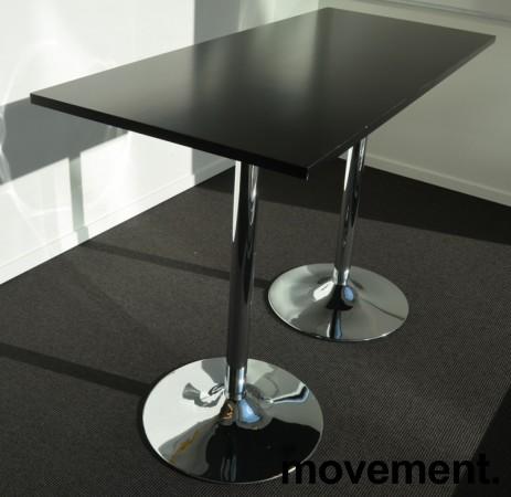 Barbord / ståbord i sort / krom, 140x60cm, høyde 94cm, pent brukt bilde 2