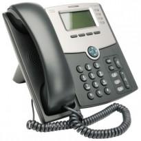 VoIP-telefon: Cisco SPA502G, 1linje, 2xEthernet, POE, SPCP/SIP, pent brukt