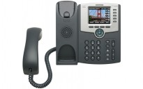 VoIP-telefon: Cisco SPA525G, 5linjer, 2xEthernet, Wifi, POE, USB, Fargeskjerm, SPCP/SIP, pent brukt