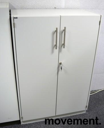 Skap med 3 ringpermhøyder fra EFG i lys grå, bredde 80cm, høyde 120cm, pent brukt bilde 1
