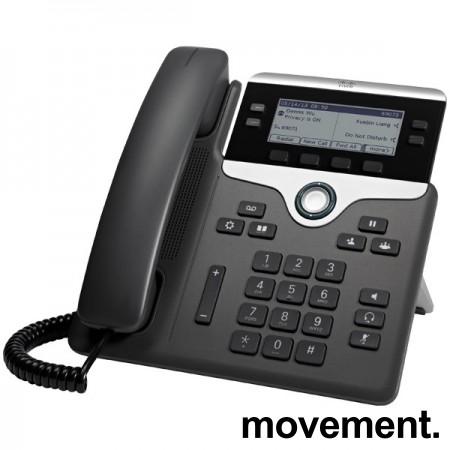 Cisco CP-7841-K9 V04 IP-telefon, SIP, 4linjer, pent brukt bilde 1