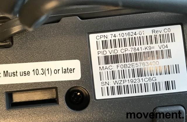 Cisco CP-7841-K9 V04 IP-telefon, SIP, 4linjer, pent brukt bilde 3