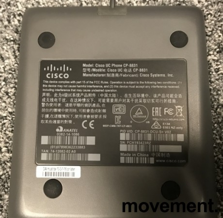 Cisco konferansetelefon CP-8831 Unified IP Conference Phone, pent brukt bilde 3