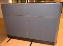 Skillevegg-modul til kontor fra Kinnarps, 100B 150H, Zonit-serie, Grå farge, Lyddempende / Kabelkanal, pent brukt