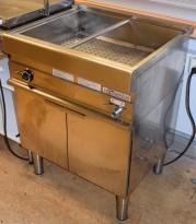 Vannbad / varmebad i rustfritt stål fra Modular, 70cm bredde, varmeskap under, pent brukt