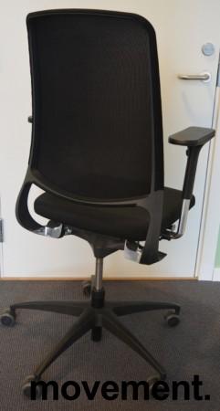 Drabert Salida kontorstol i sort, høy rygg i mesh, armlene, pent brukt bilde 2