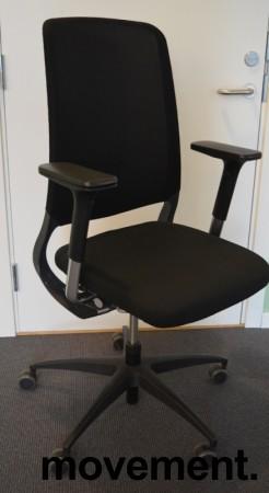 Drabert Salida kontorstol i sort, høy rygg i mesh, armlene, pent brukt bilde 1