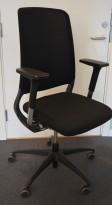 Drabert Salida kontorstol i sort, høy rygg i mesh, armlene, pent brukt