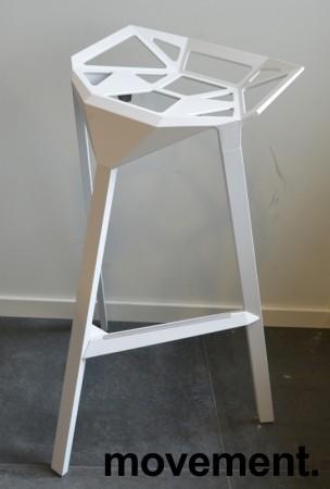 Lekker designbarkrakk, Magis Stool one i hvitt, sittehøyde 77cm, pent brukt bilde 1