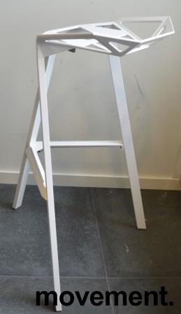 Lekker designbarkrakk, Magis Stool one i hvitt, sittehøyde 77cm, pent brukt bilde 2