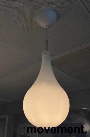Taklampe / pendellampe Belid Cooper, hvitt glass, Ø=20cm, pent brukt bilde 3