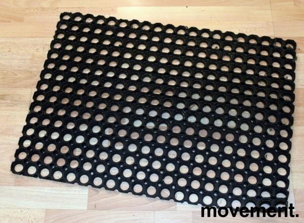Drenerende gummimatte for bar, verksted el.l., 80x60cm, brukt