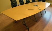 Møtebord i bjerk fra EFG, 360x120cm, passer 12-14 personer, brukt