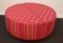 Stor puff fra Martela i rosa- og lillafarger, modell Movie, Ø=90cm, pent brukt