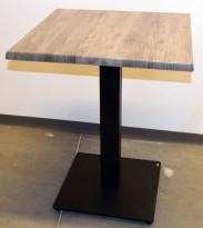 Kafebord fra Vega-Direkt med bordplate fra Werzalit i grått, 60x60cm, 75cm høyde, pent brukt