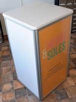 Sammenleggbar messestand: Ståbordmodul 54x54x101cm, pent brukt