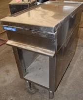Arbeidsbenk / blindmodul 45cm bredde i rustfritt stål fra Metos, 90cm dybde, 92cm høyde, pent brukt