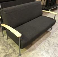 Kompakt loungesofa i grått fra Isku, Finland, 160cm bredde, pent brukt