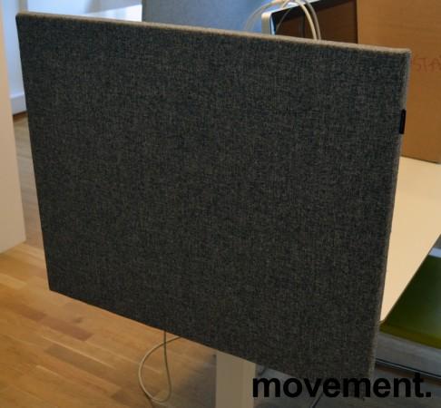 Bordskillevegg fra Edsbyn i grått stoff, 80x65cm, pent brukt bilde 2