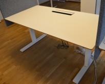 Skrivebord med elektrisk hevsenk fra Linak, 160x80cm, pent brukt