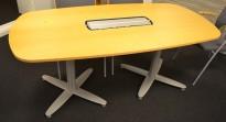 Kompakt møtebord i bøk, Kinnarps T-serie, 130x90cm, passer 4-6personer, pent brukt