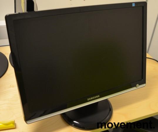 Flatskjerm til PC: Samsung Syncmaster 226BW, 1680x1050, VGA/DVI, pent brukt bilde 2