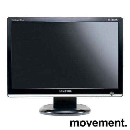 Flatskjerm til PC: Samsung Syncmaster 226BW, 1680x1050, VGA/DVI, pent brukt bilde 1