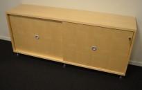 Skjenk / printerskap / AV-skap til konferanesrom i bjerk fra Skandiform, bredde 160cm, pent brukt