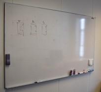 Whiteboard-tavle, vegghengt modell, 200x120cm, pent brukt