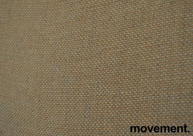 Bordskillevegg i blågrønn / grått stoff, 200x60cm, pent brukt bilde 2