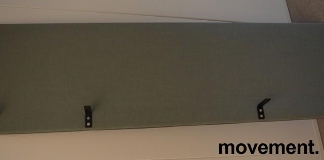 Bordskillevegg i blågrønn / grått stoff, 200x60cm, pent brukt bilde 1