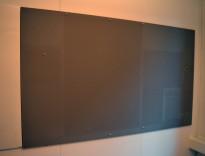 Oppslagstavle / korktavle i stoff fra Lintex, frameless, 200x120cm, pent brukt