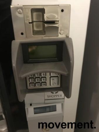 Sjokoladeautomat / snacksautomat / overtidsmat, Shopper, karusellmodell, med bankterminal, pent brukt bilde 2