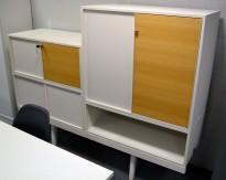 Vitra Level 34 oppbevaringssystem i hvitt / eik, bredde 180cm, hvitt og eik, pent brukt