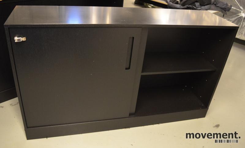 Utmerket Skap / skjenk / medieskap fra Horredsmed skyvedører i sort ZX-78