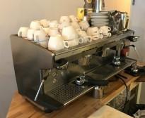 Rancilio Classe 8 espressomaskin, 3 gruppers maskin for kaffebar, 400Volt, pent brukt
