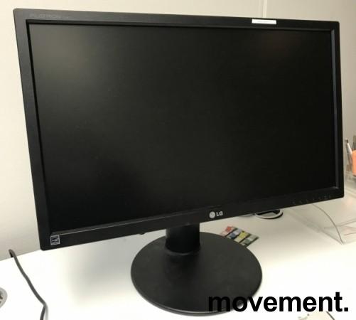Flatskjerm til PC: LG Flatron E2411, 24toms, LED, 1920x1080 Full HD, VGA/DVI/USB, pent brukt bilde 2