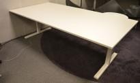 Møtebord / konferansebord i hvitt fra Martela, 240x120cm, passer 6-8 personer, pent brukt