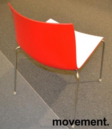 Arper Catifa 46, stablebar design-stol i plast/krom, Hvit/Rød, pent brukt bilde 1