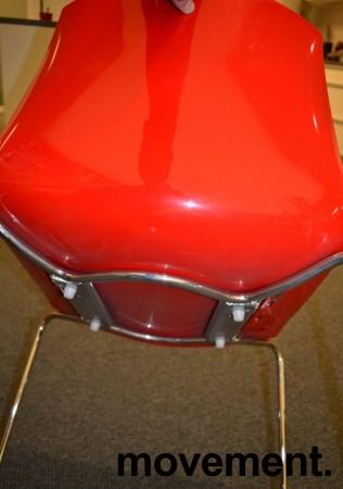 Arper Catifa 46, stablebar design-stol i plast/krom, Hvit/Rød, pent brukt bilde 4