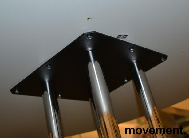 Rundt møtebord / konferansebord / kantinebord i hvitt / krom fra EFG, Ø=120cm, pent brukt bilde 3