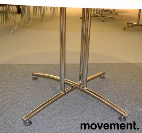 Rundt møtebord / konferansebord / kantinebord i hvitt / krom fra EFG, Ø=120cm, pent brukt bilde 2
